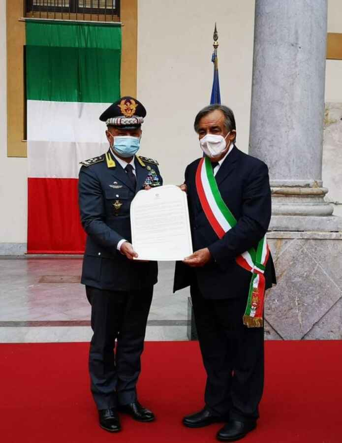 75° anniversario della consegna alla Guardia di Finanza della caserma S.TEN. M.O.V.M. Giuseppe Cangialosi